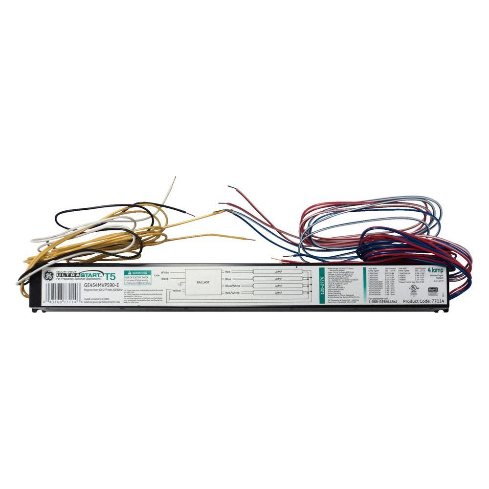 120-277-Volt 4 or 3-Lamp T5 HO Programmed Start Electronic Ballast