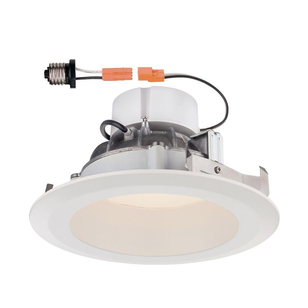 Deep Splay 6 in. White Trim Warm Light 90 CRI LED