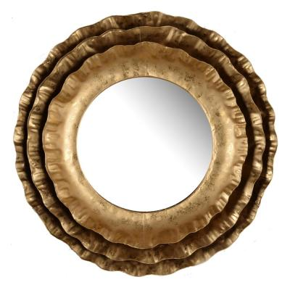 Ashlyn Gold Round Mirror