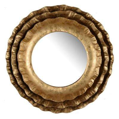 Ashlyn Gold Round Mirror