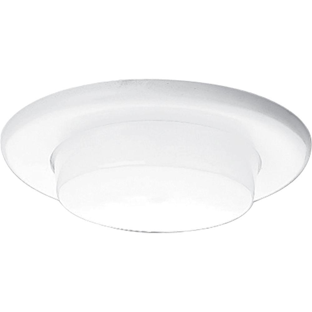 Progress Lighting 6 in. White Recessed Drop Opal Shower Trim