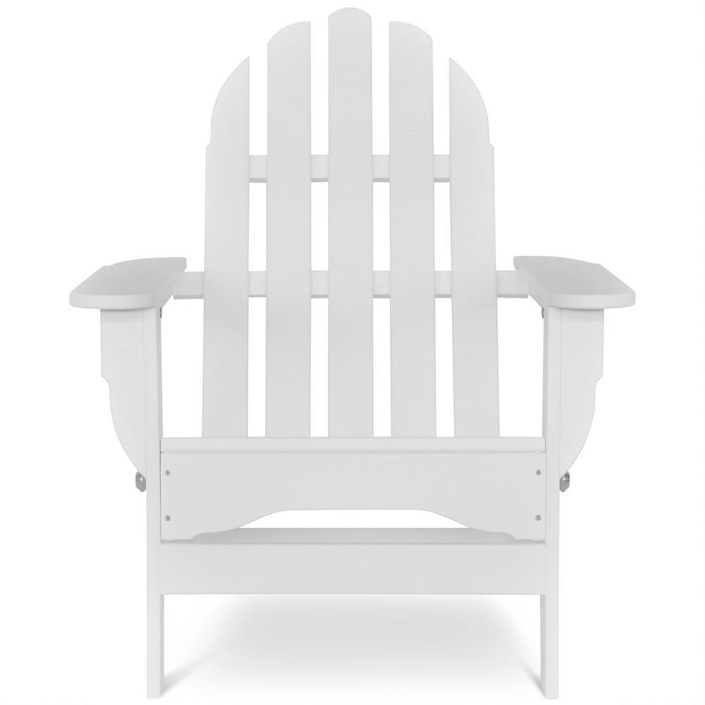 Icon White Plastic Folding Adirondack Chair