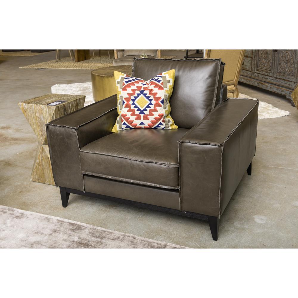 Zabath Multi-Colored 18 in. x 18 in. Square Southwestern Pattern Decorative Pillow