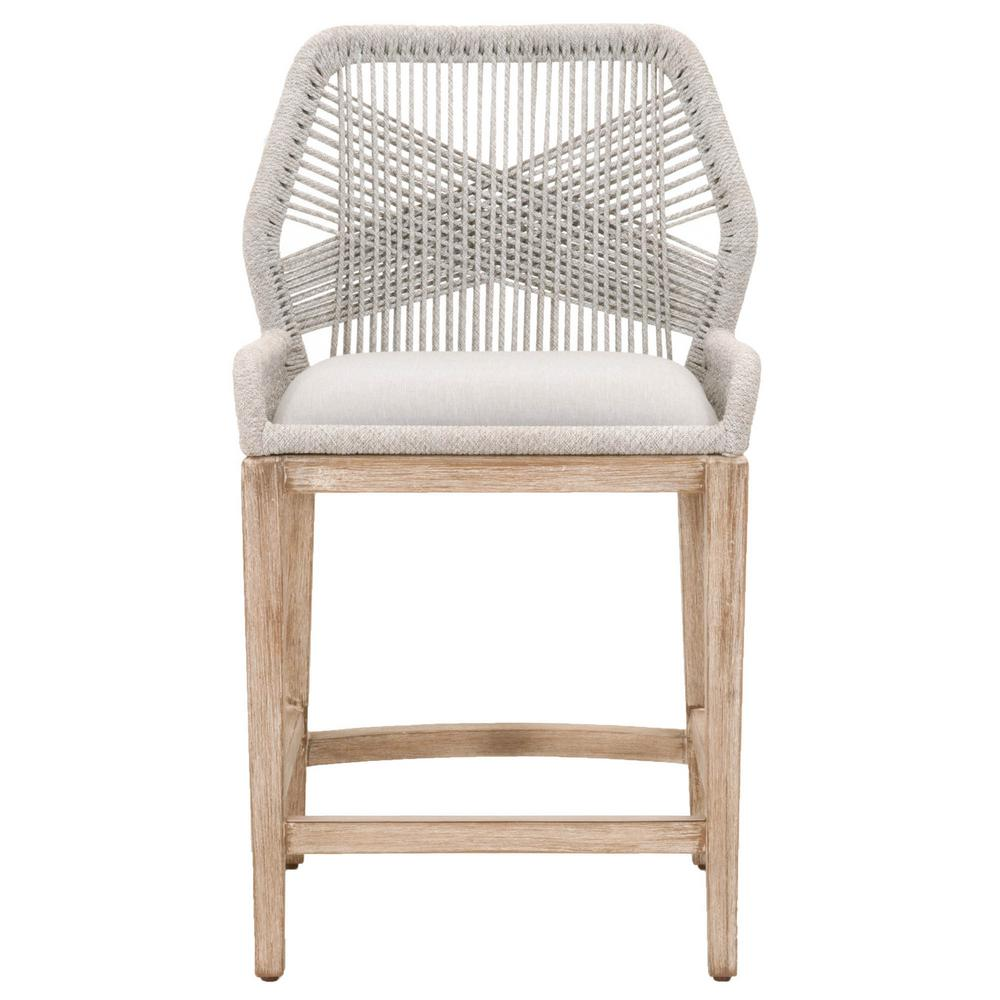 Orient express furniture loom 26 in taupe and white flat rope natural gray mahogany counter stool 6808cs wta pum ng the home depot