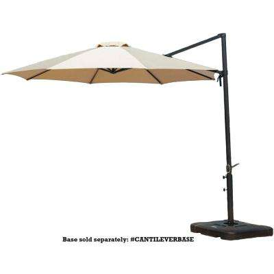 Cantilever 11 ft. Patio Umbrella in Tan