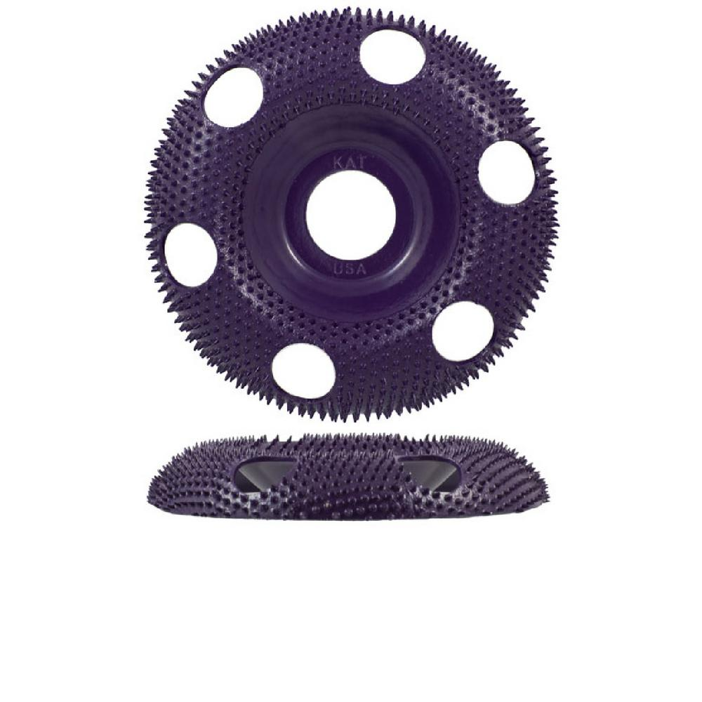 King Arthur S Tools 4 In Round Purple Coarse 120 Grit Disc For Woodworking