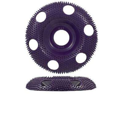 4 in. Round Purple Coarse 120 Grit Disc for Woodworking