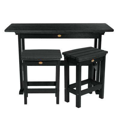 Lehigh Nantucket Blue 3-Piece Plastic Rectangular Bar Height Outdoor Dining Set