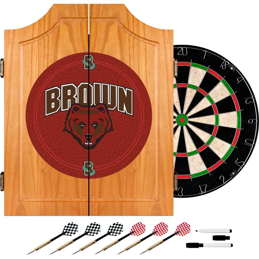 Brown University Wood Finish Dart Cabinet Set