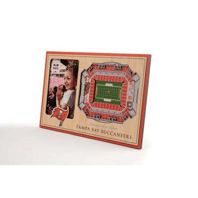 NFL Tampa Bay Buccaneers Team Colored 3D StadiumView with 4 in. x 6 in. Picture Frame
