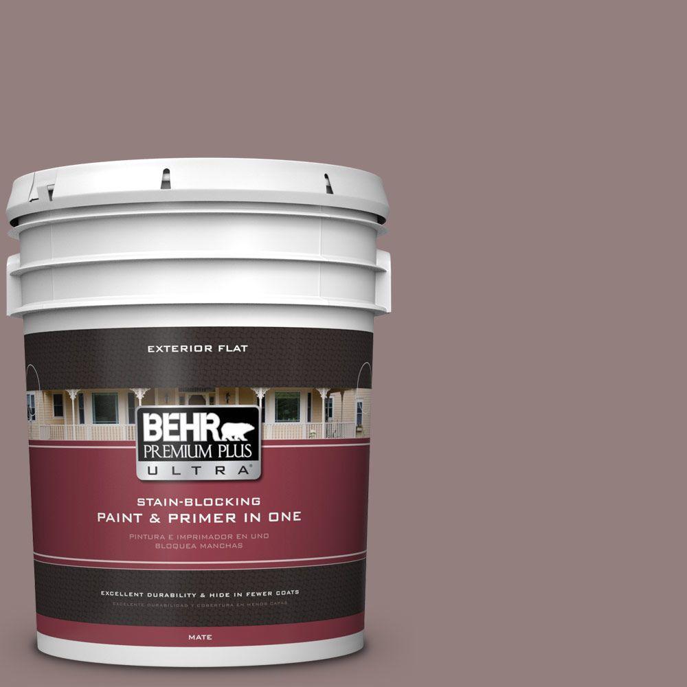 BEHR Premium Plus Ultra 5-gal. #730B-5 Warm Embrace Flat Exterior Paint