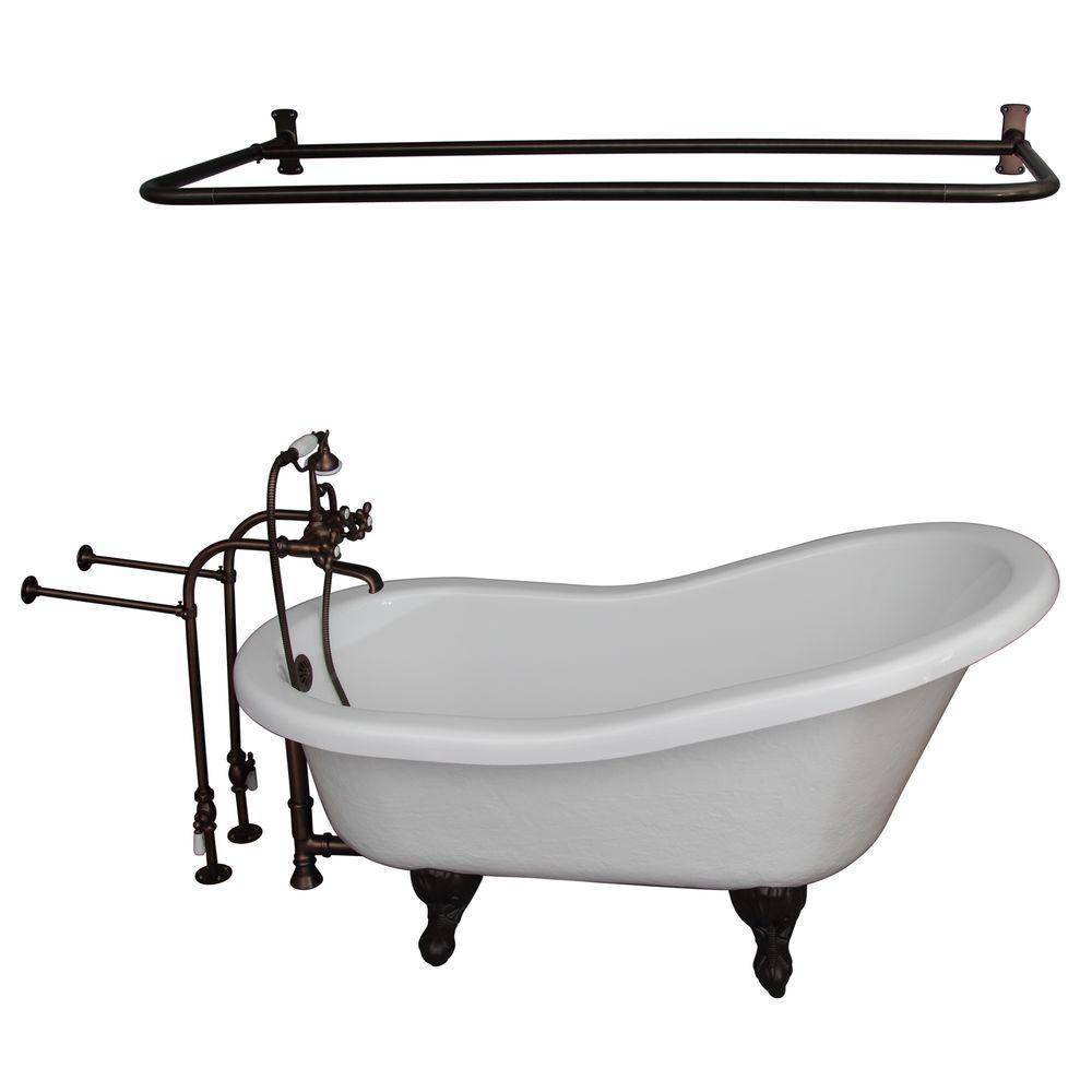 Shower Rod Clawfoot Bathtubs Freestanding Bathtubs The Home Depot