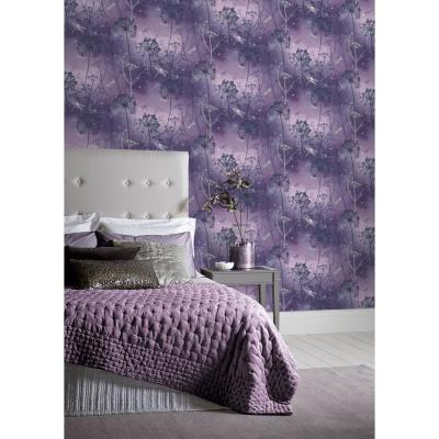 Damselfly Purple Paper Strippable Roll (Covers 57 sq. ft.)
