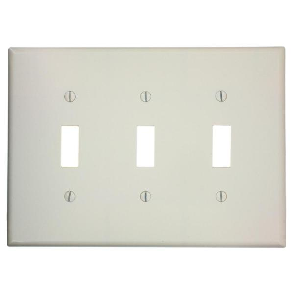 Leviton Almond 2 Gang Toggle Wall Plate 1 Pack 80509 T The Home Depot