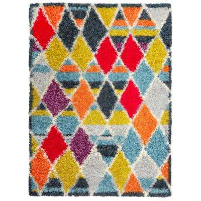 Montana Shaggy Multi 3 ft. 3 in. x 4 ft. 6 in. Indoor Area Rug