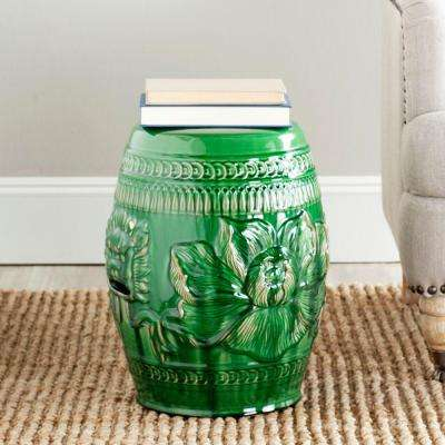 Chinese Dragon Green Ceramic Patio Stool
