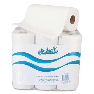 Paper Towel Roll, 11 in. x 8 4/5 in., White, 72/Roll, 6 Rolls/Pack