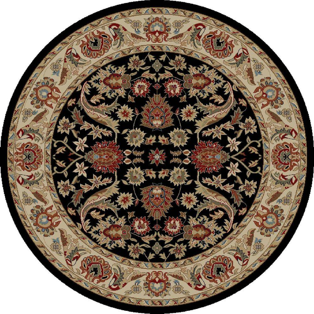 Concord Global Trading Ankara Sultanabad Black 7 ft. 10 in. Round Area Rug