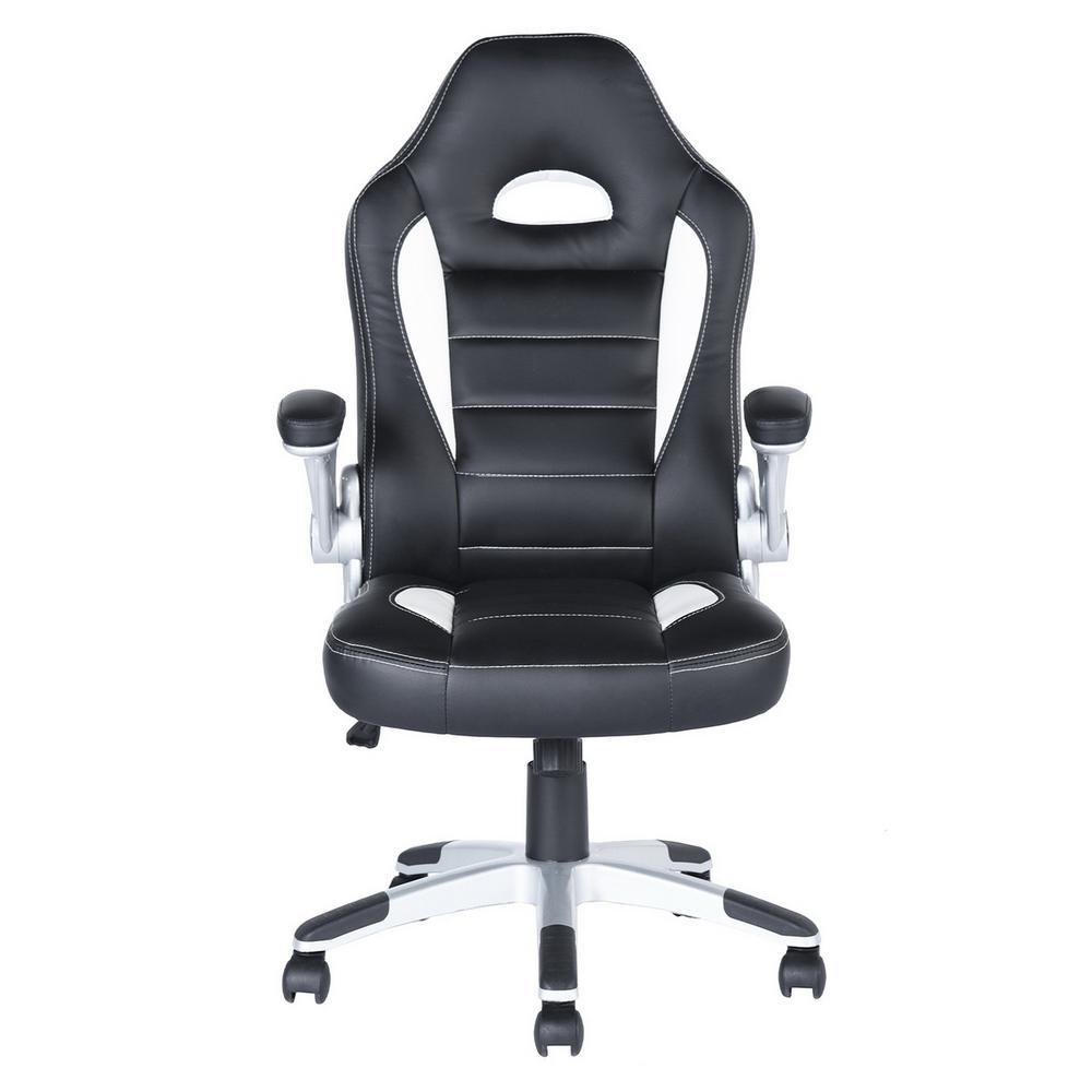 Birkin Black PU Movable Armrest Office Chair