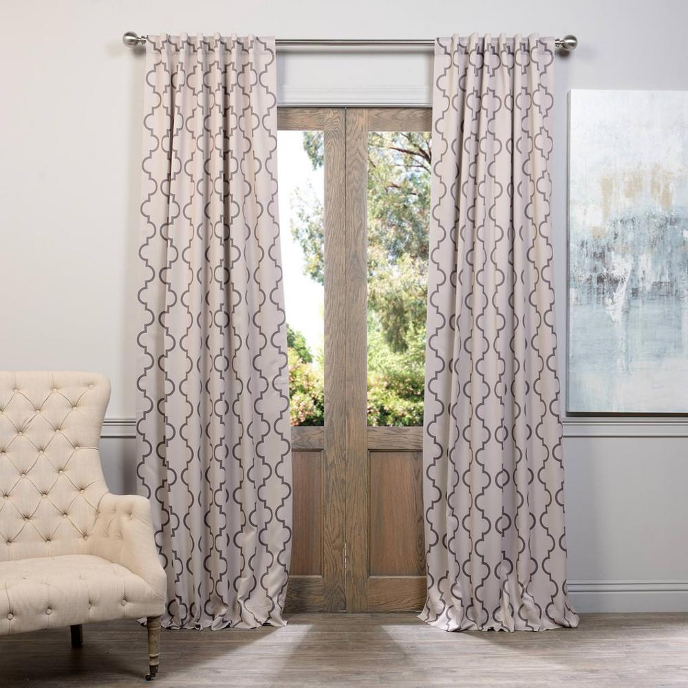 Exclusive Fabrics Furnishings Semi Opaque Seville Tan Blackout Curtain