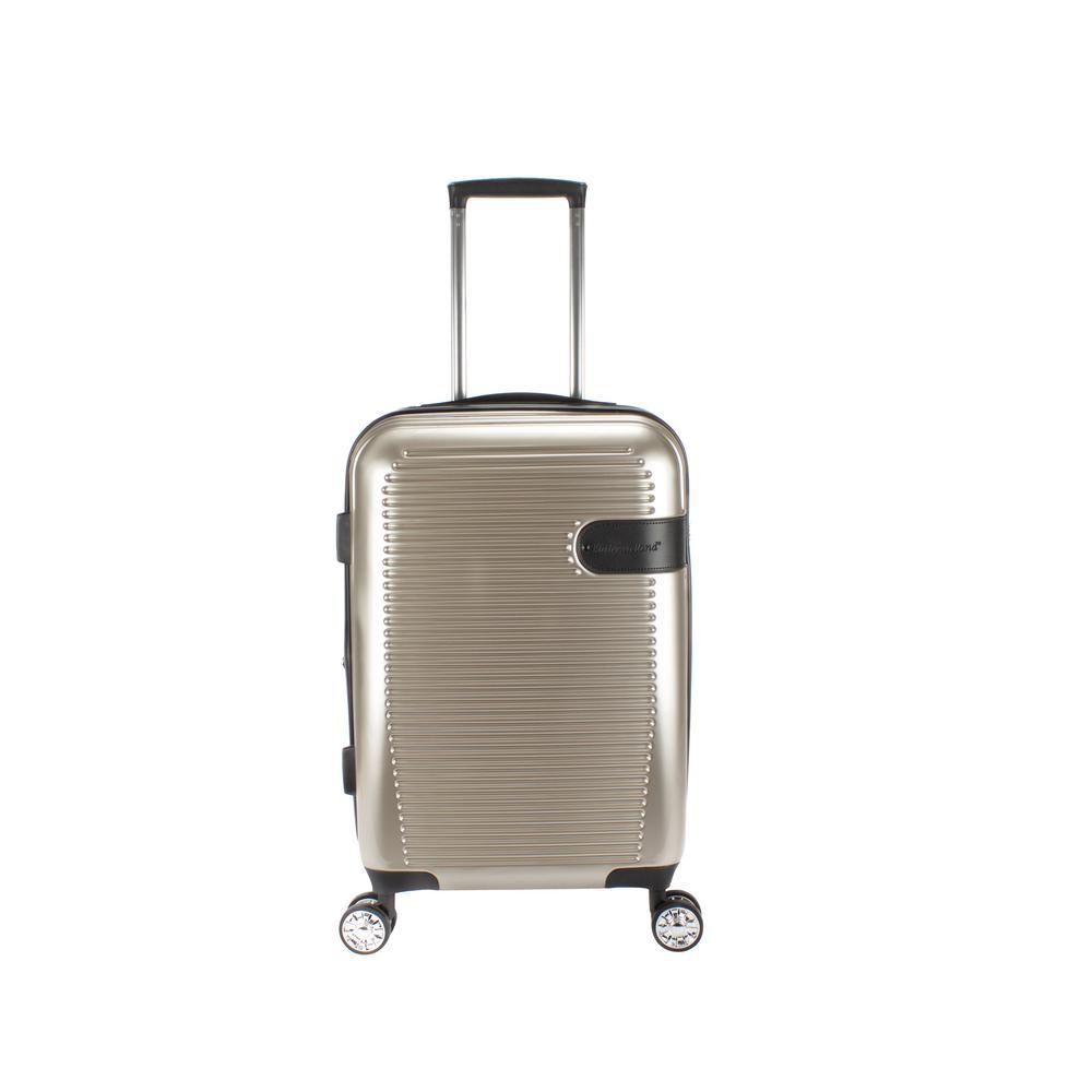 Glenn 22 in. Gold Hardside Spinner Luggage