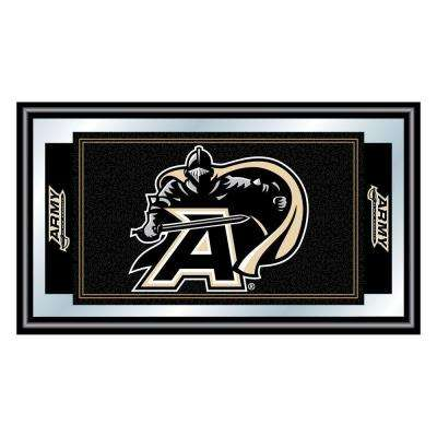 Army Black Knights 15 in. x 26 in. Black Wood Framed Mirror