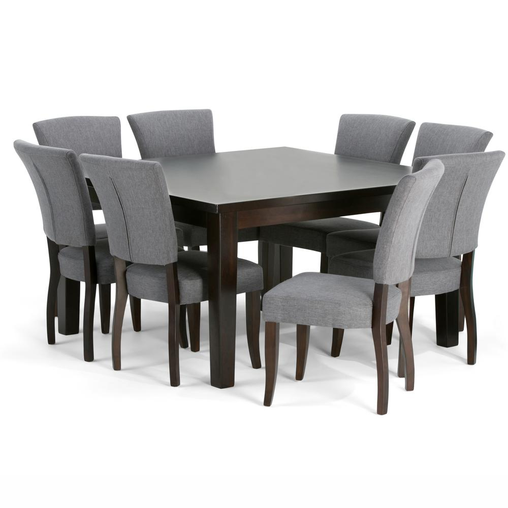 Rooms To Go Dining Room Set: Simpli Home Joseph 9-Piece Slate Grey Dining Set-AXCDS9JO