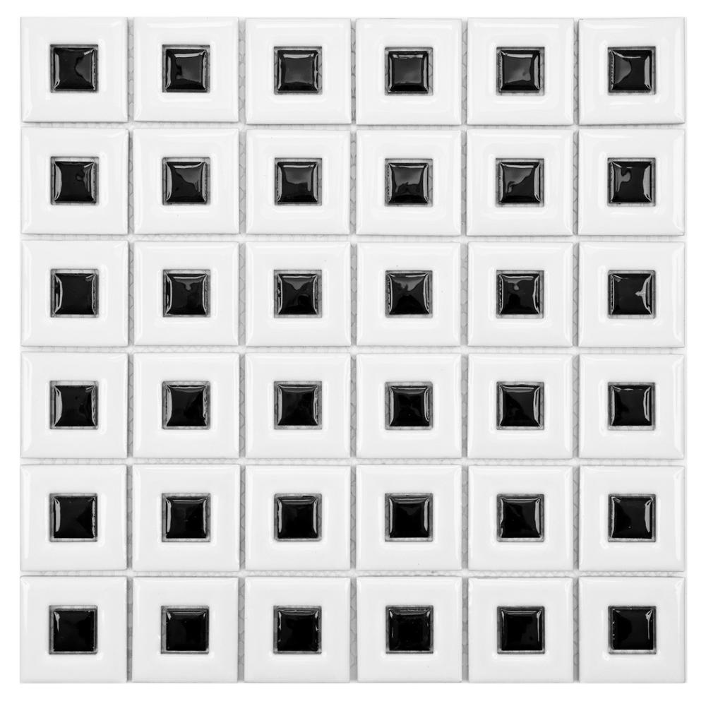 Merola Tile Mod Frames White with Black 11-3/4 in. x 11-3/4 in. x 5 ...