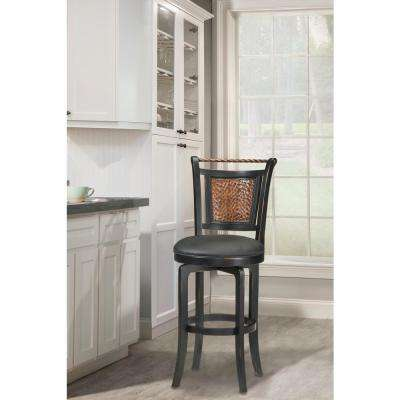 Norwood 26.5 in. Black Swivel Cushioned Bar Stool