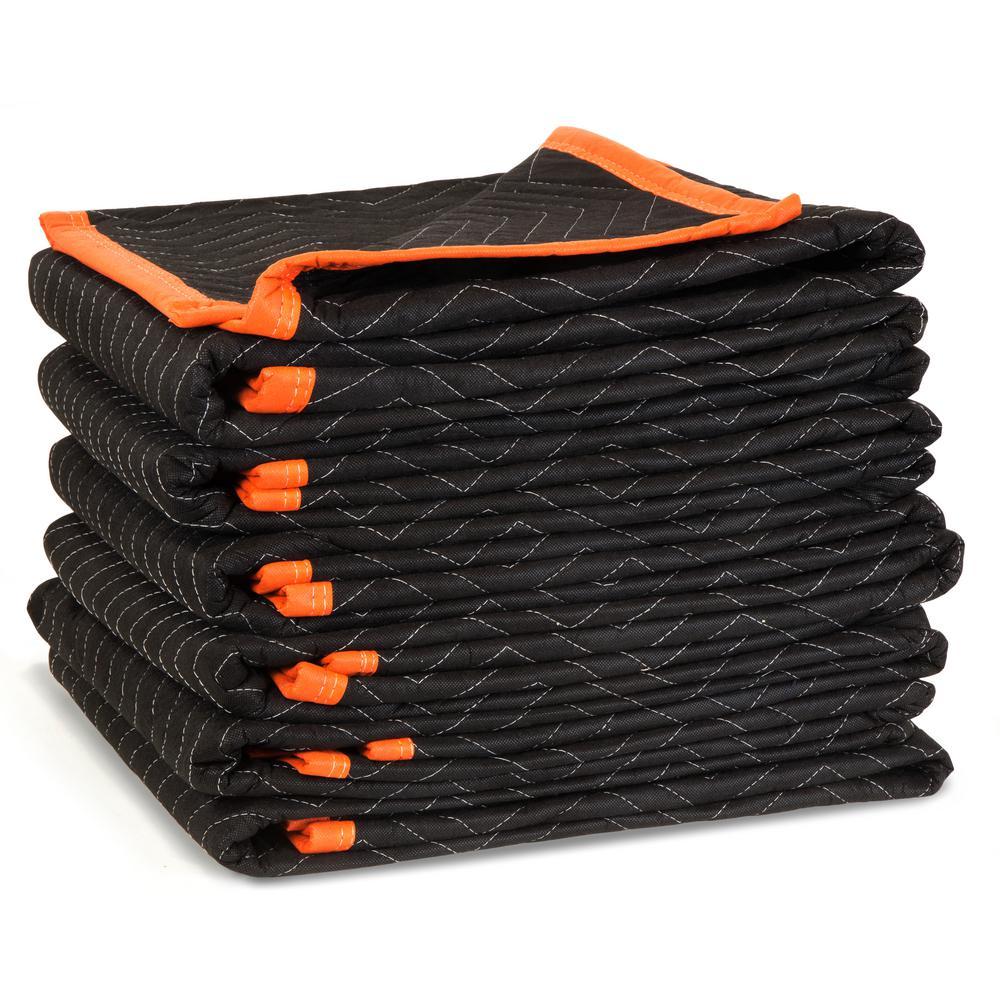 WEN 72 in. x 40 in. Heavy-Duty Padded Moving Blankets (6-Pack)