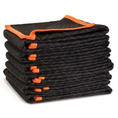 72 in. x 40 in. Heavy-Duty Padded Moving Blankets (6-Pack)