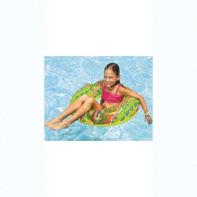30 in. Assorted Transparent Printed Ring Pool Float