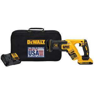 Dewalt 20-Volt MAX XR Lithium-Ion Cordless Brushless Compact Reciprocating Saw Kit with Battery 2Ah, Charger and Kit Bag by DEWALT
