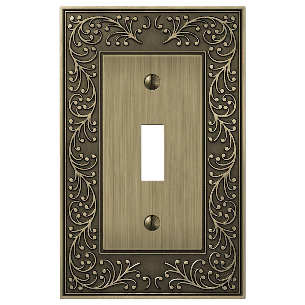 Brass Light Switch Covers Beauteous Brass  Switch Plates  Wall Plates  The Home Depot Decorating Design