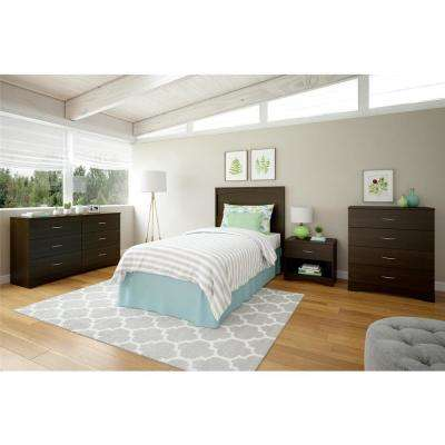 Crescent Point Twin Size Espresso Headboard