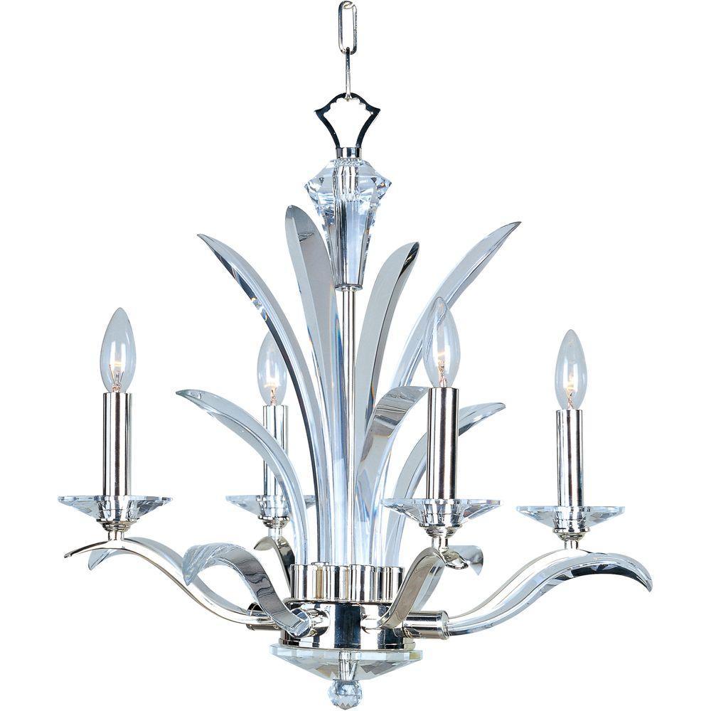 Paradise 4-Light Polished Silver Mini Chandelier
