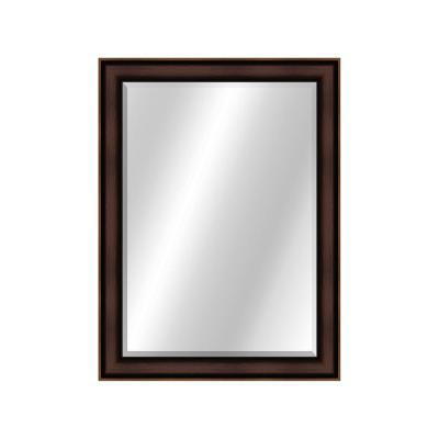 Metropolis 2 30 in. x 42 in., Two Toned Value Core Bronze Framed Rectangular Mirror