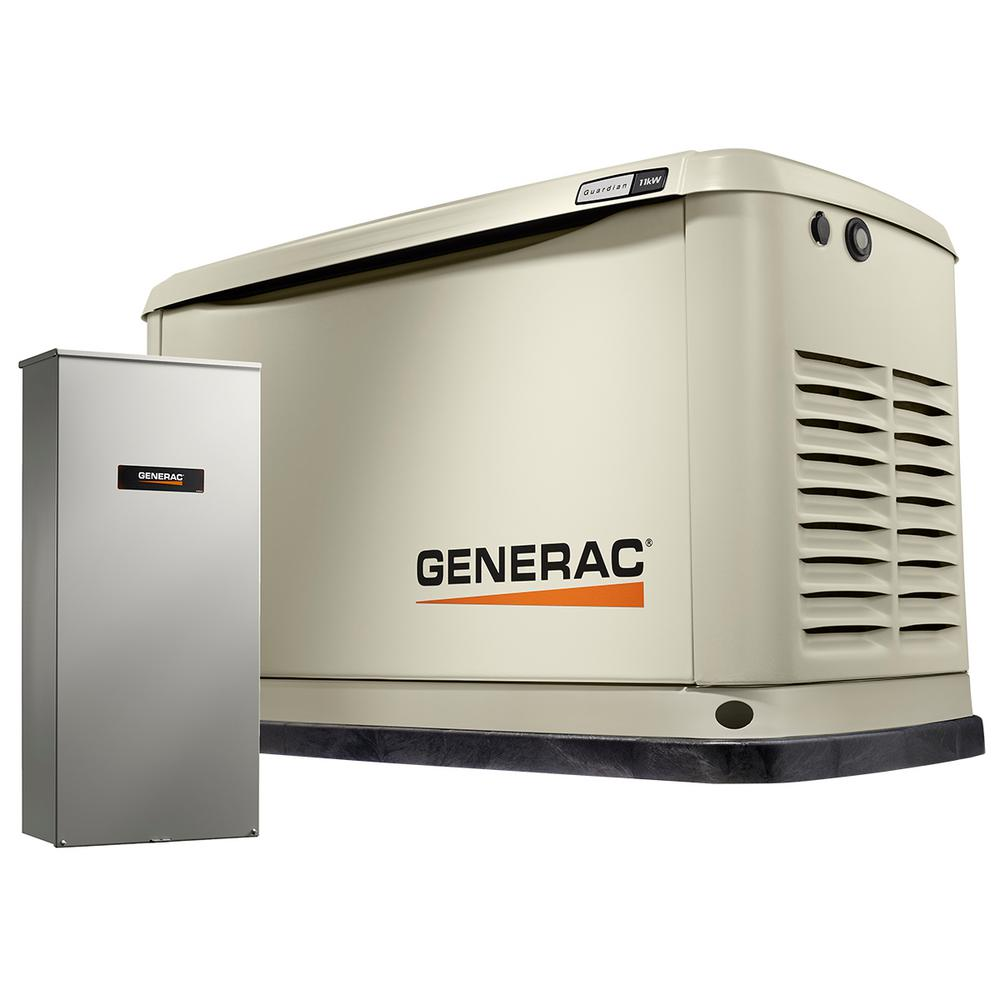 11,000-Watt (LP)/10,000-Watt (NG) Air Cooled Standby Generator with 16 Circuit