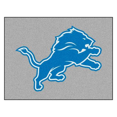 NFL 42.5 in. x 34 in. Detroit Lions Rug