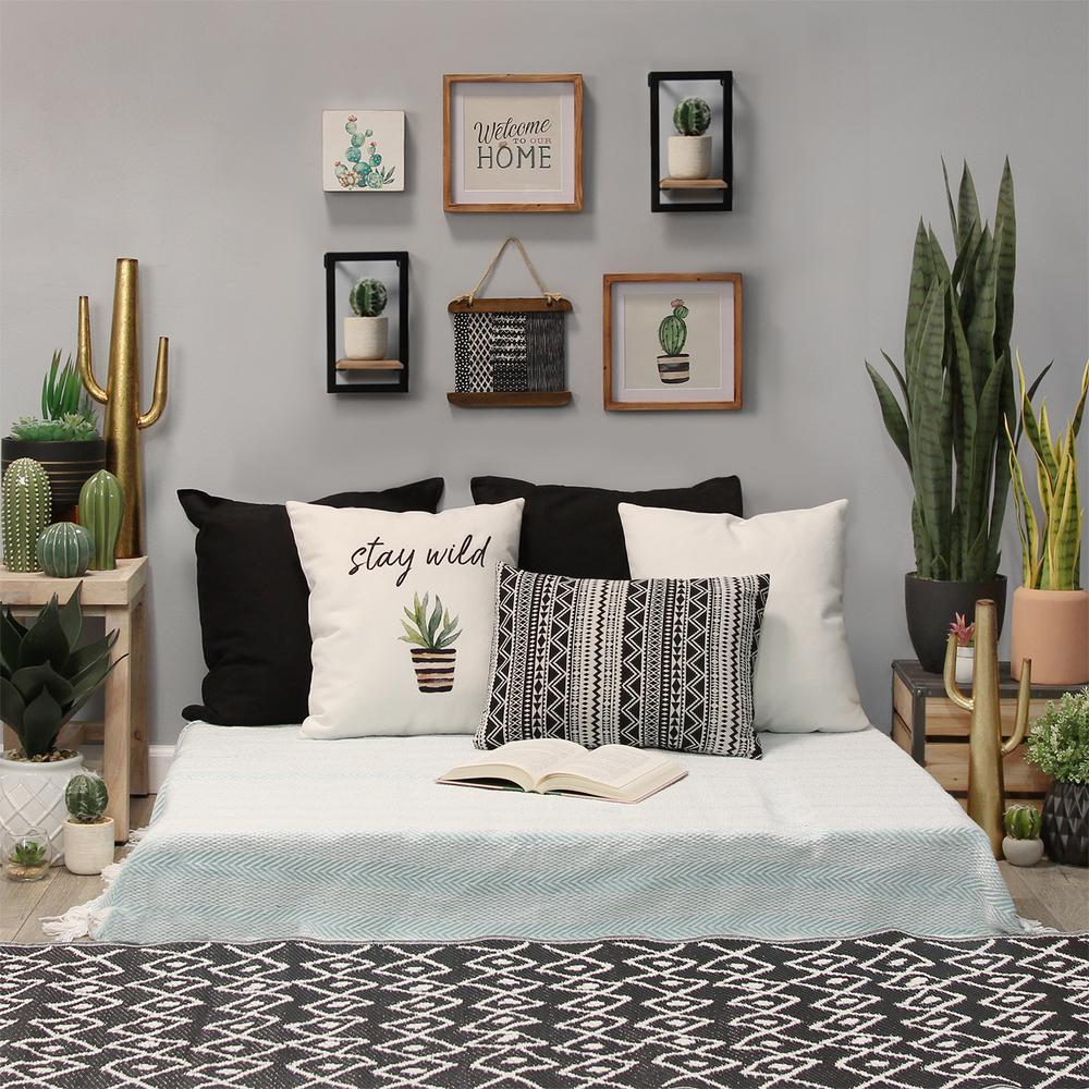 Stratton Home Decor Decorative Wooden Mini Shelves Wall Decor-S16070 - The  Home Depot
