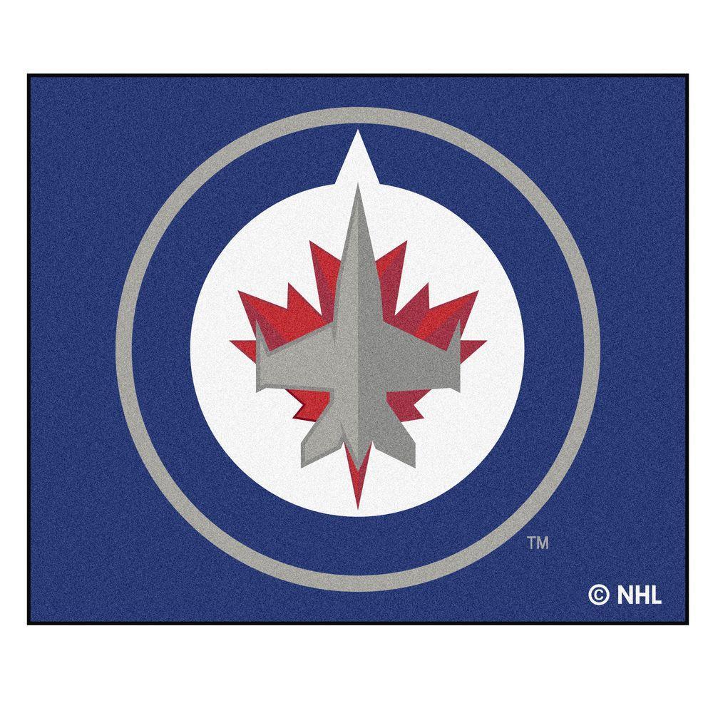 NHL Winnipeg Jets Navy 5 ft. x 6 ft. Area Rug