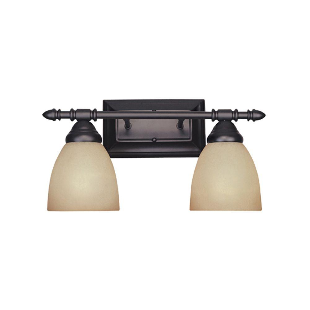 Designers Fountain Apollo Collection 2 Light Oil Rubbed Bronze Wall Mount Vanity