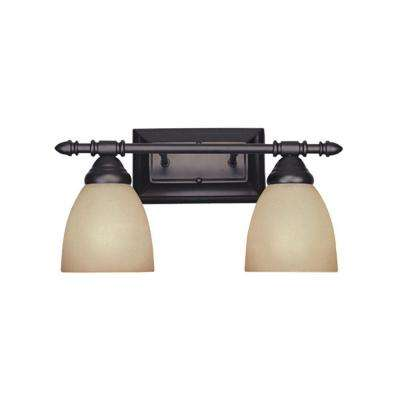Branson Collection 2-Light Oil Rubbed Bronze Wall Mount Vanity Light