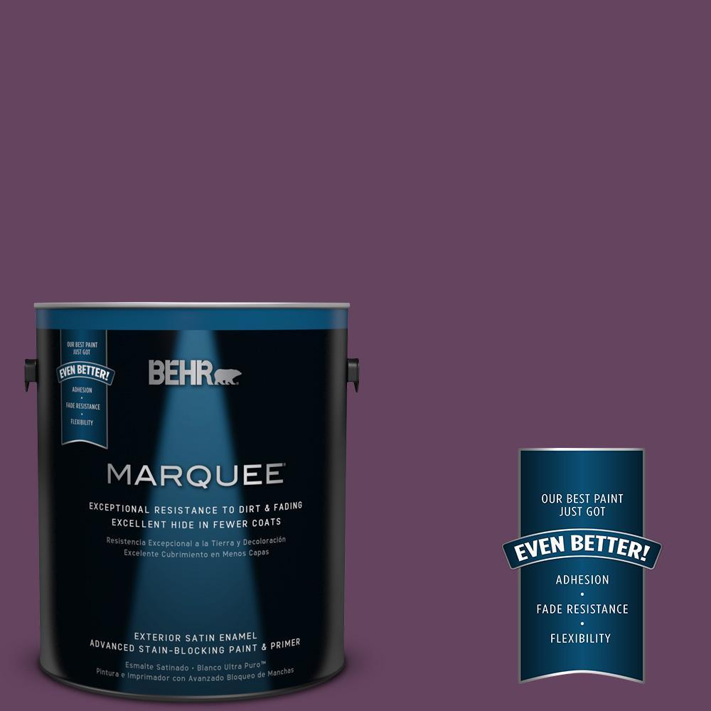 BEHR MARQUEE 1-gal. #680D-7 Bunchberry Satin Enamel Exterior Paint