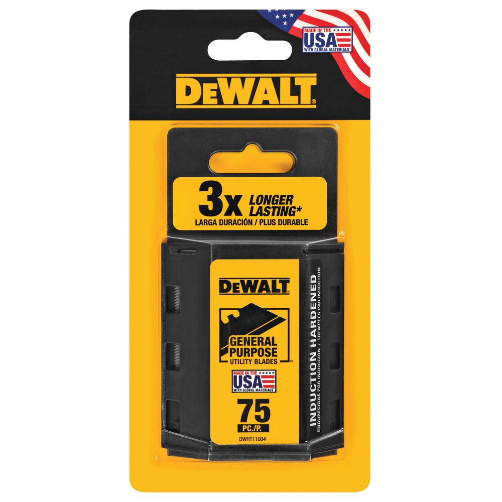 DEWALT Heavy-Duty Blades for Utility Knives (75-Pack)