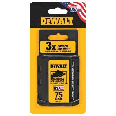 Heavy-Duty Blades for Utility Knives (75-Pack)