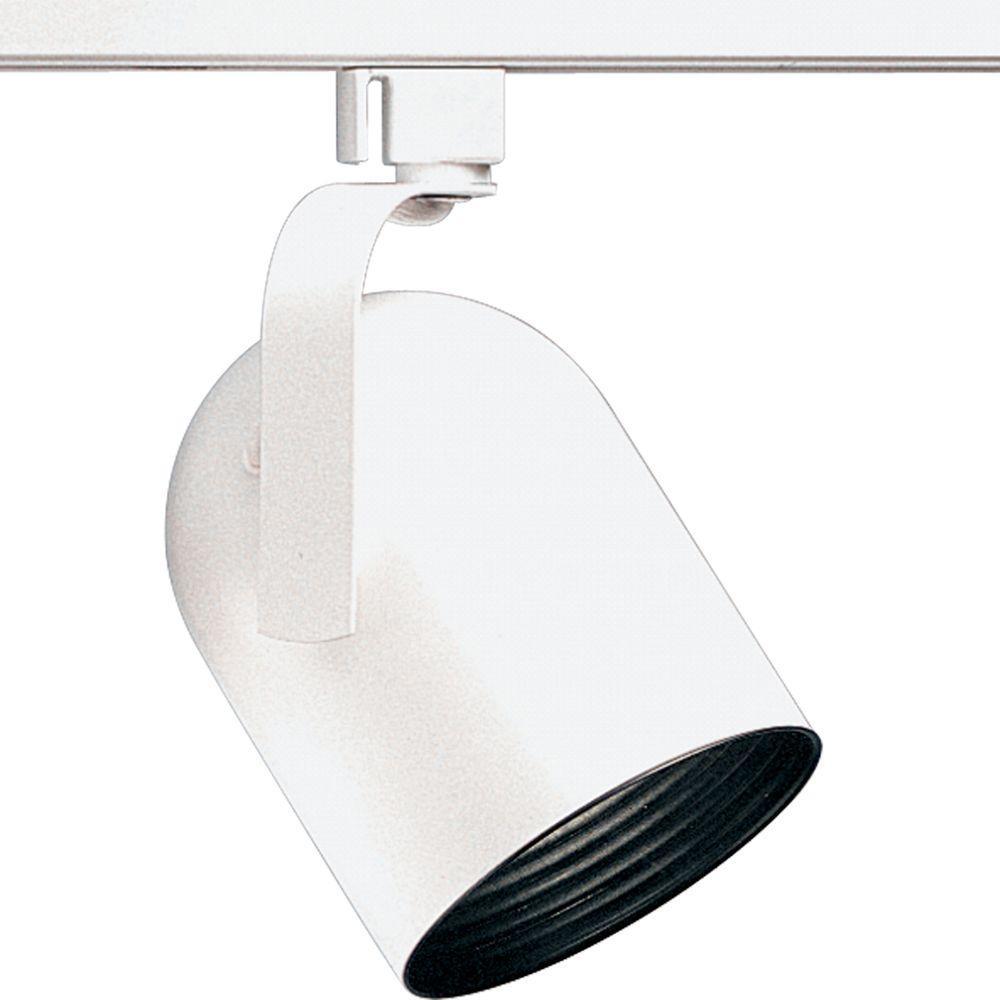 Alpha Trak Collection 1-Light White Track Lighting Head