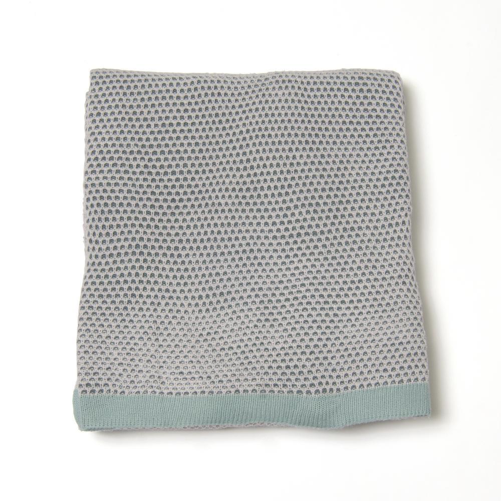 Woven Honeycomb Blue Acrylic Throw