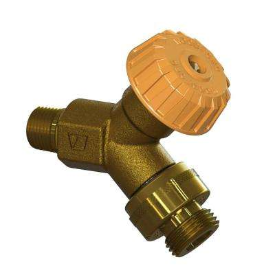 1/2 in. x 1/2 in. MPT x Copper Sweat Mild Climate Brass Wall Hydrant with Single-Check Vacuum Breaker