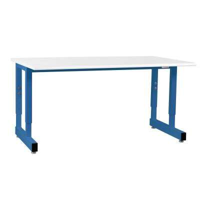 Dewey Series 2.5 ft. D x 5 ft. W Formica Laminate - Round Front Edge 5,000 lbs. Capacity Workbench